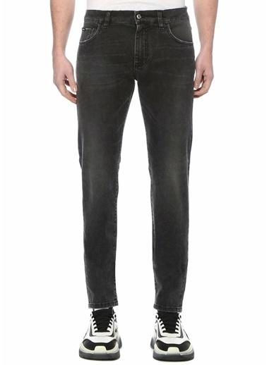 Dolce&Gabbana Dolce&Gabbana Distressed Slim Fit  Jean Pantolon 101620099 Gri